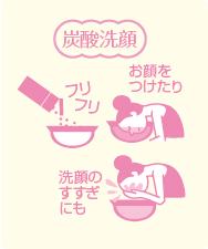 炭酸洗顔 お顔をつけたり 洗顔のすすぎにも