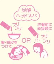 炭酸洗顔 洗髪前に直接頭に 髪・頭皮をつけて