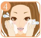 最後に洗顔をし、化粧水や乳液等で整えて下さい。